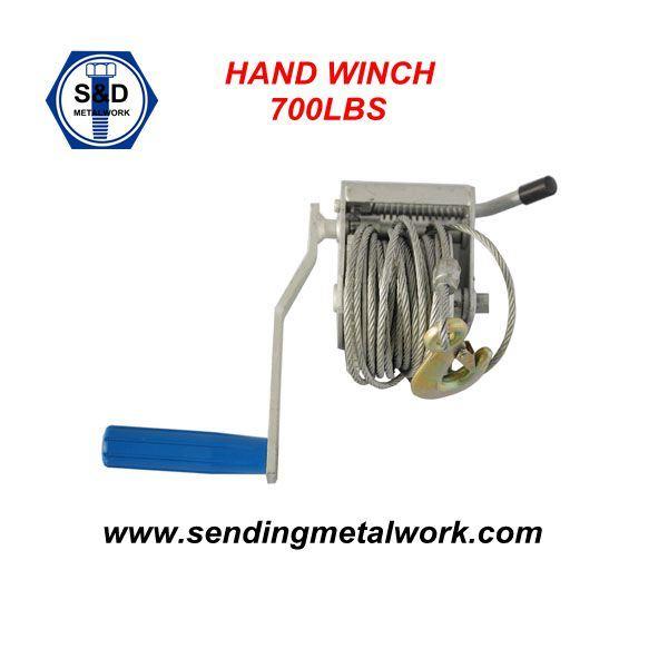 600lbs 700lbs Hand Winch Brake Winch Trailer Winch Manual Hand Winch 700lbs Powder Coated