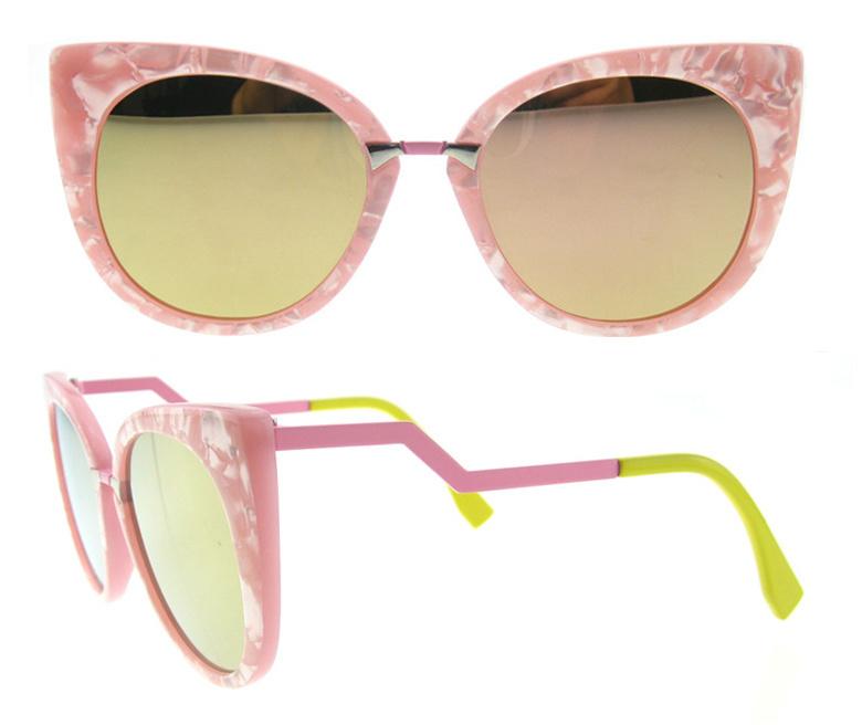 2016 fashion Italian Dseign Cat Eye Acetate Polarized Sunglasses
