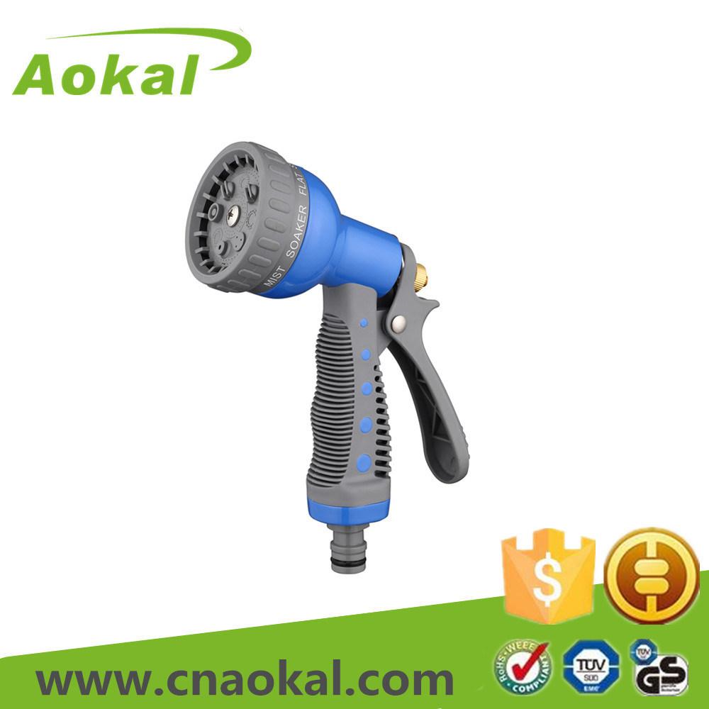 Cleaning Watering High Pressure 8-Pattern Metal Water Spray Gun