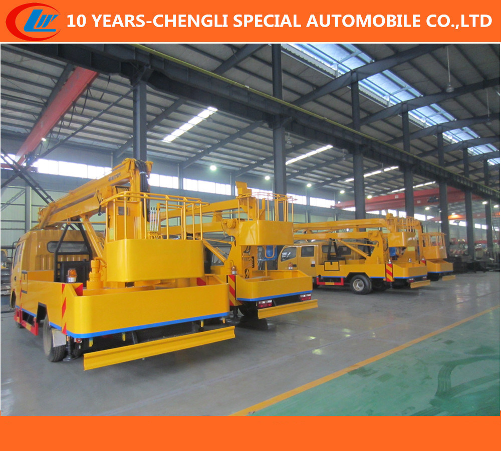 16m Aerial Work Platform Truck, Tail-Lift Truck, Overhead Working Truck