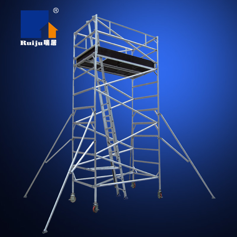 Double Width Scaffolding with Inclined Ladder 3.8m