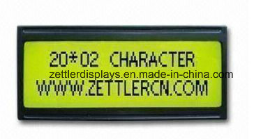 Stn LCD Display Module with Y/G Back Light, 20 Characters 2 Line