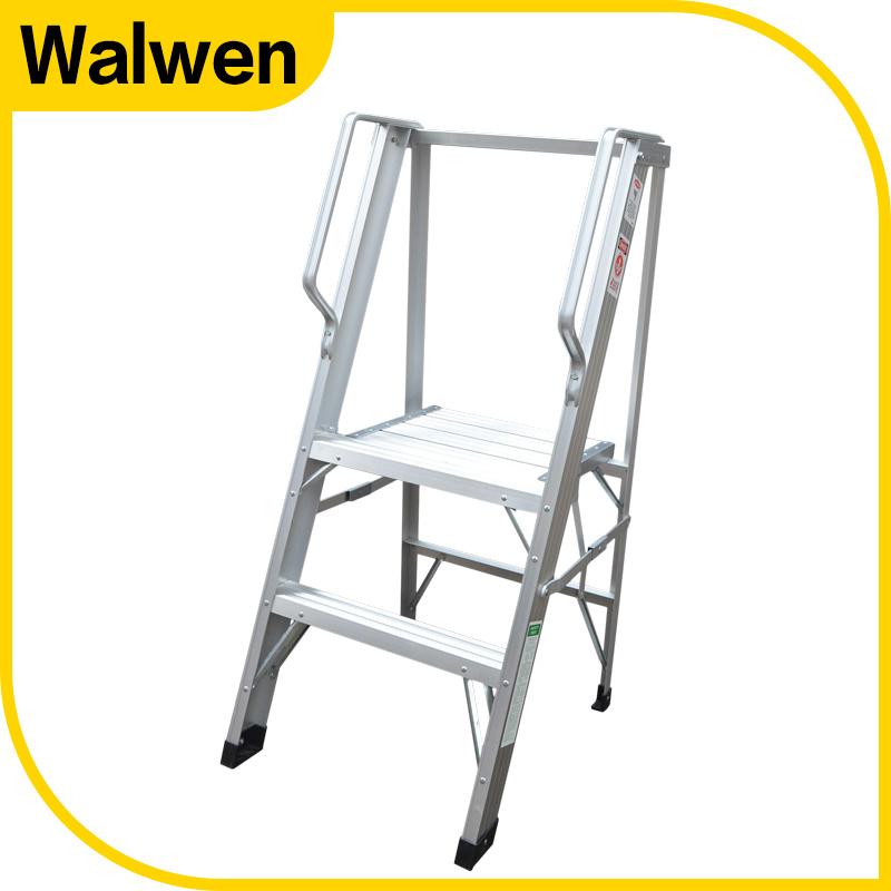 Best Selling 3 Step Folding Aluminum Platform Ladder with Handrail