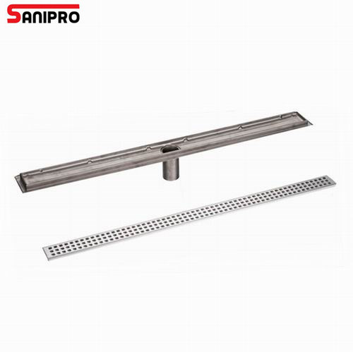 Rectangle Stainless Steel Linear Drain Bathroom Shower Long Floor Drain