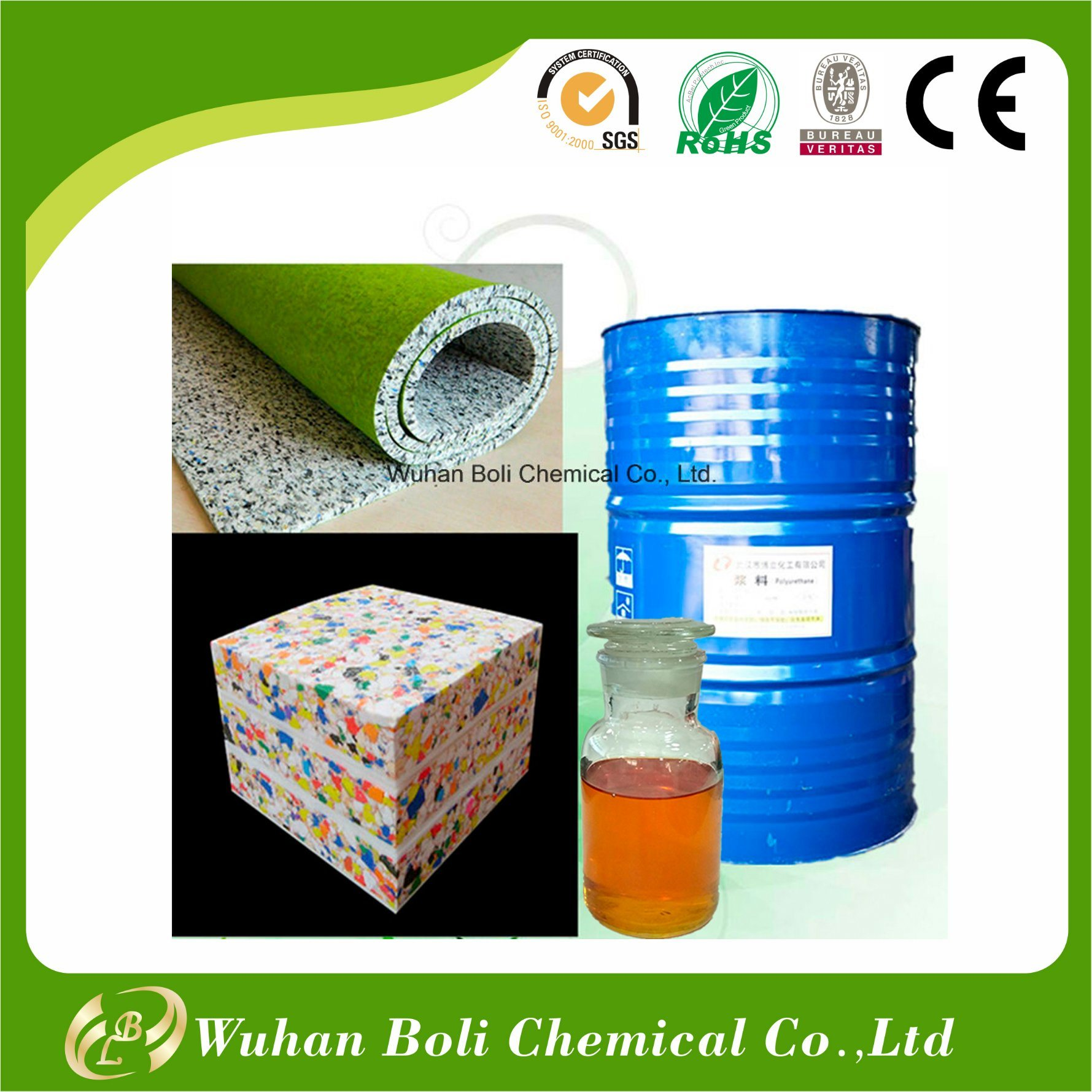 Made in China Chemical Polyurethane Adhesive for Sponge Scrap Foam and Scrap Rubber