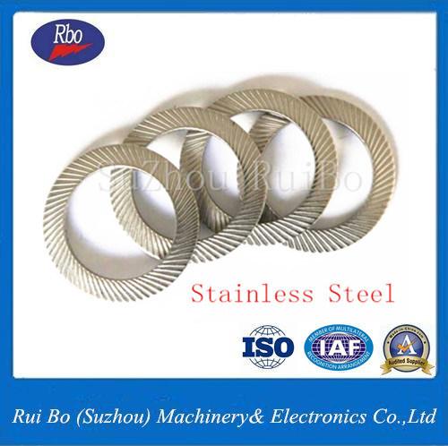 DIN9250 Steel 304/316 Double Side Knurl Flat Spring Lock Washer