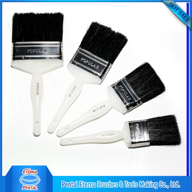 Black Bristle Plastic Handle Paint Brush