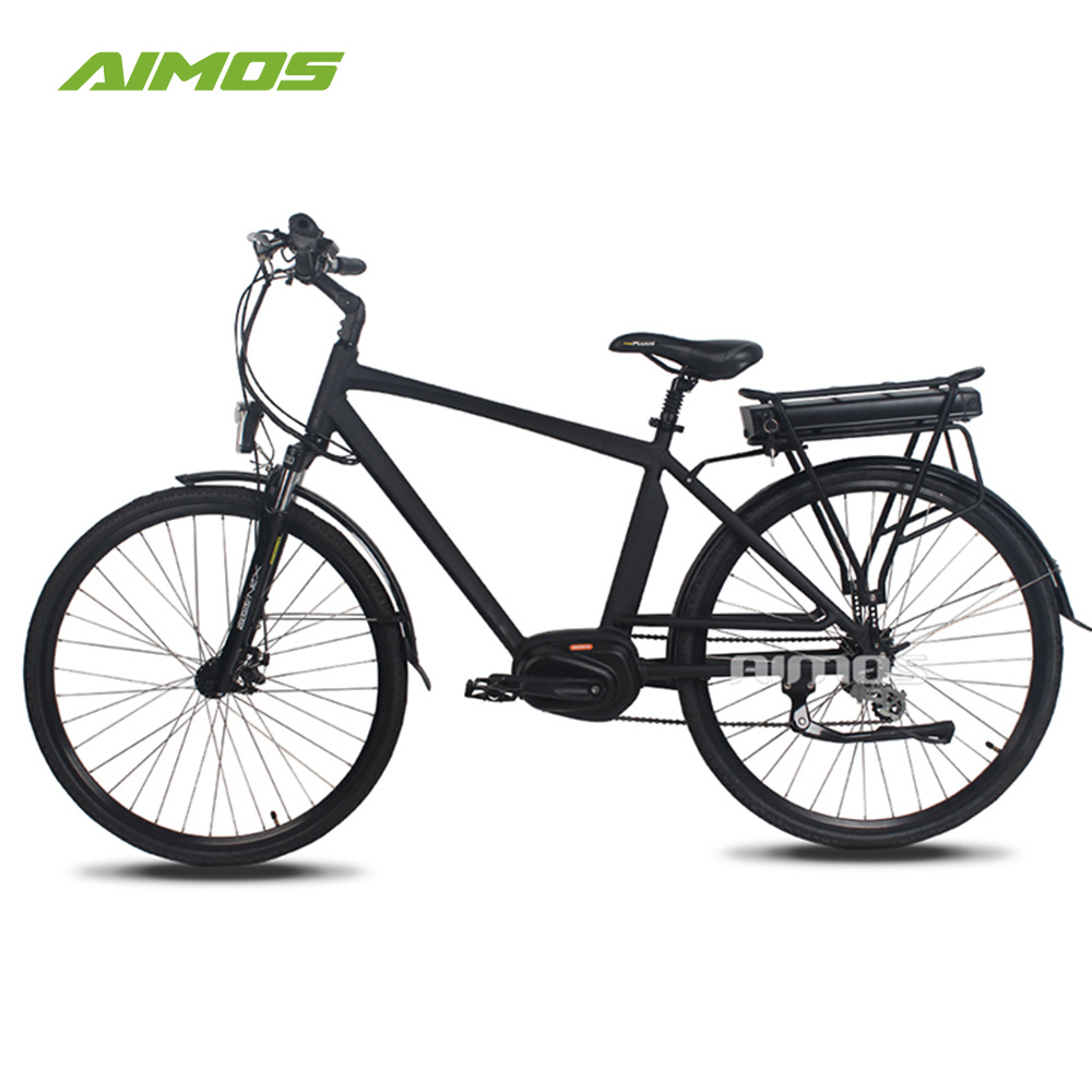 36V 250W MID Drive Mountain Electric Bike with Rear Rack Battery