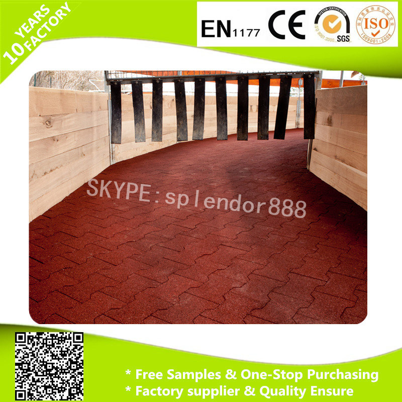 Bone Shape Rubber Mats for Horse Stable Flooring