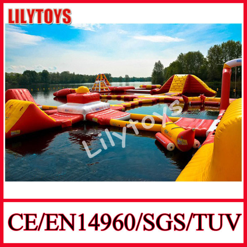 2014 Aqua Jump Inflatable Floating Water Park, Inflatable Water Park with En15649 Certificate
