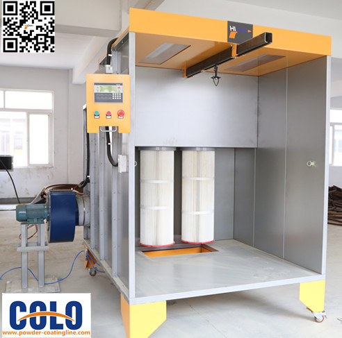 CE Manual Powder Coating Booth for Car Wheel