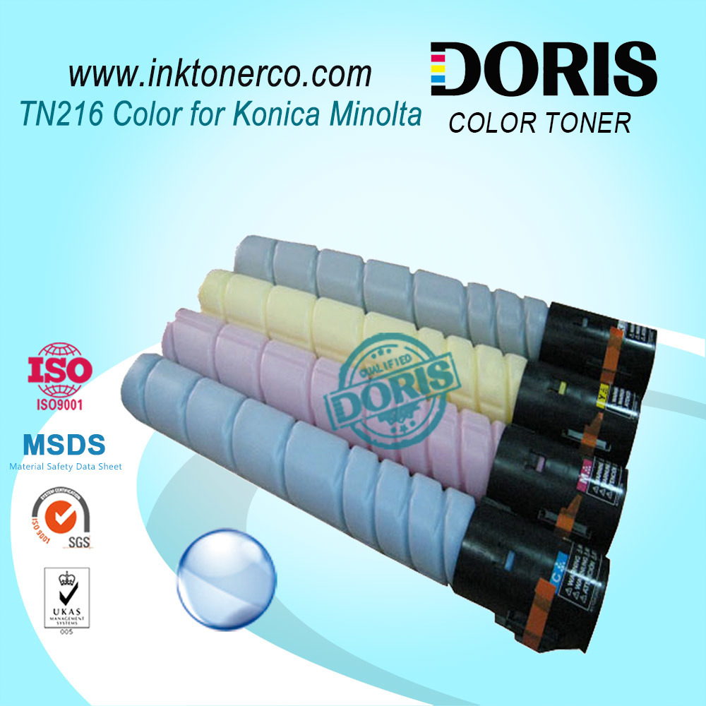 Color Toner Powder Japan Tomoegawa Tn216 Copier for Konica Minolta Bizhub C220 C280 C360 Photocopier Machine