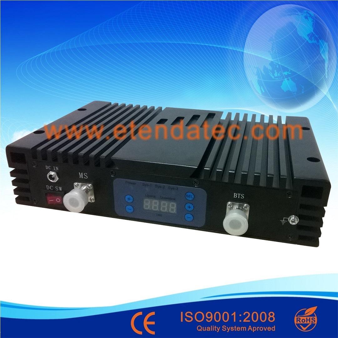 27dBm 80db CDMA/Dcs/WCDMA Triple Band Repeater with Digital Display