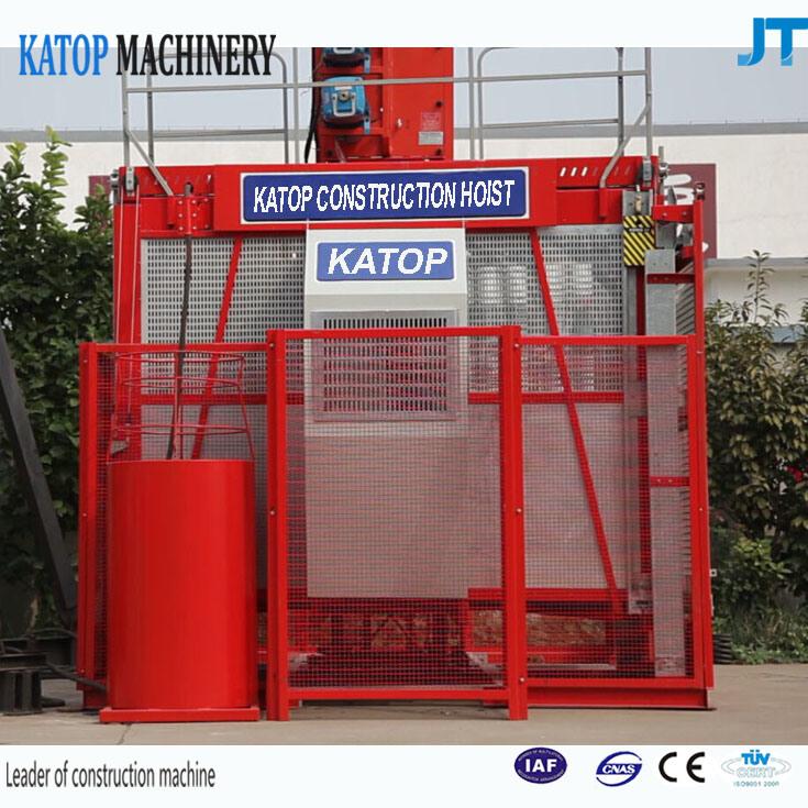 Single Cage Construction Hoist 1.5t Load Building Elevator