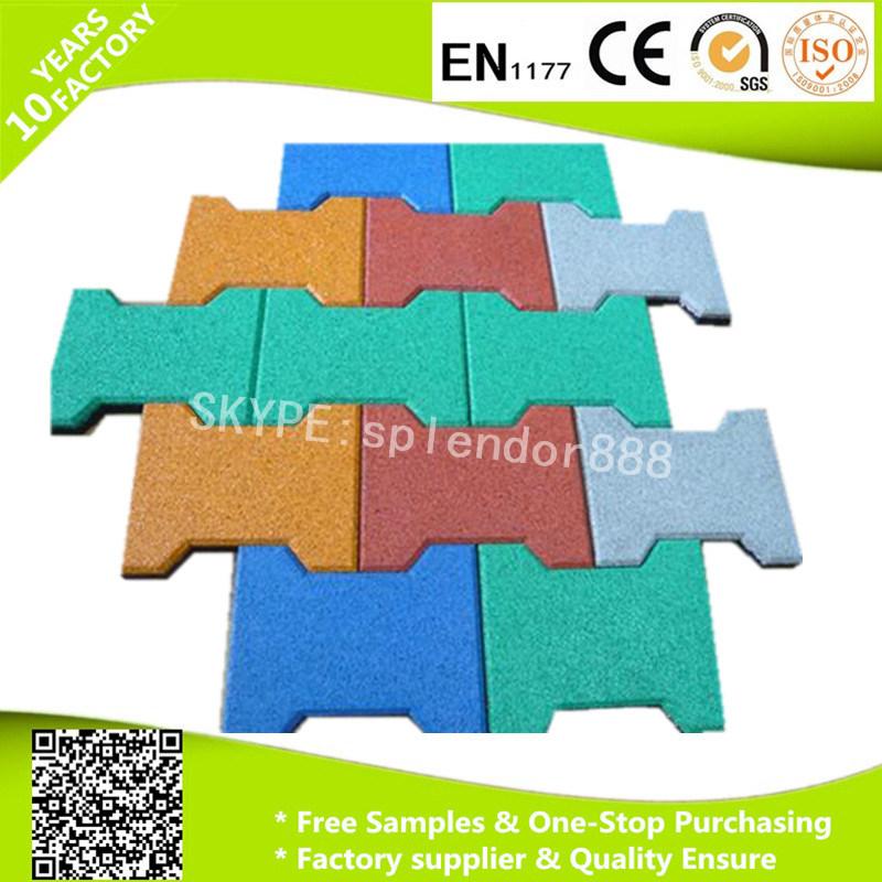 Bone Shape Rubber Mats for Horse Stable Flooring