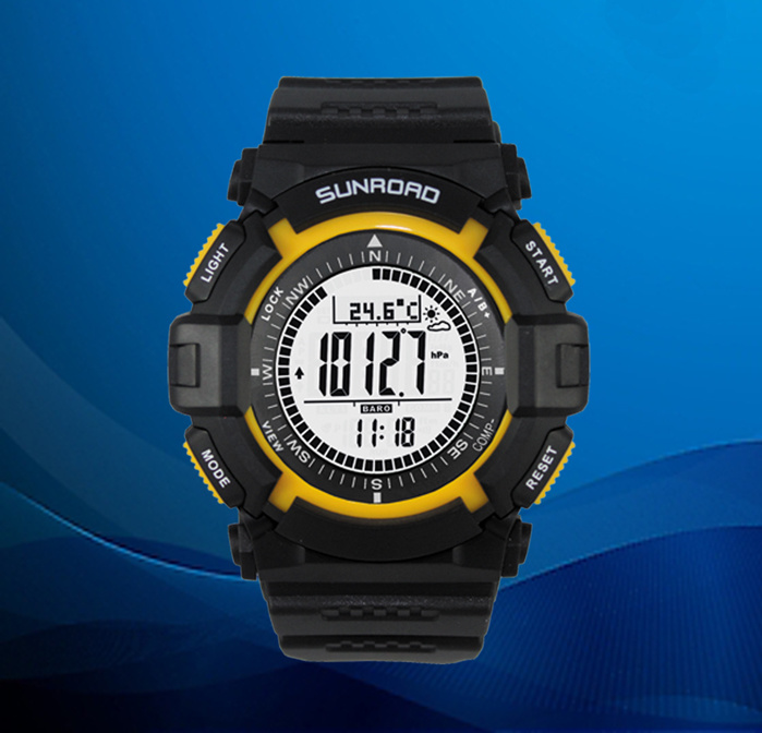 Wrist Fashion Sports Watch with Altimeter, Barometer, Compass, Pedometer Functions for Outdoor Sports (QT-FR820A)