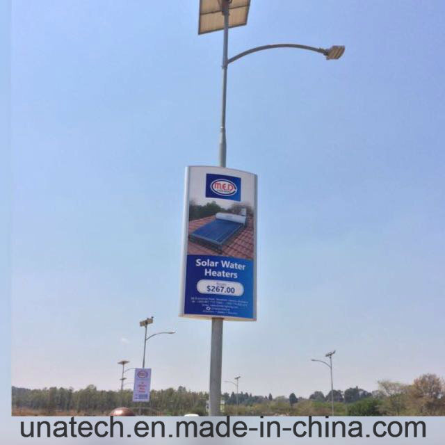 Solar Outdoor Street Pole Banner LED Advertising Light Box