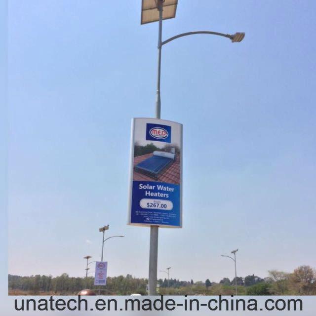 Solar Panel Outdoor Street Pillar Banner LED Advertising Media Light Aluminium Box