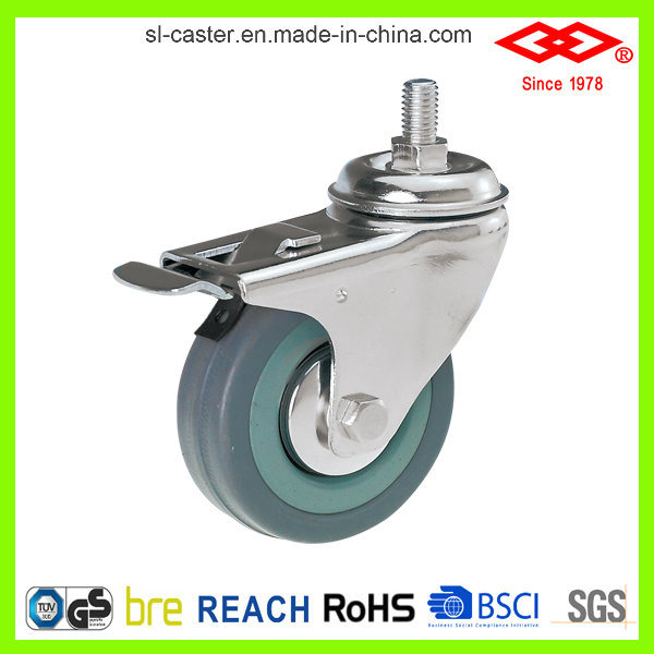 Grey Rubber Caster Wheel (L110-32C050X17S)
