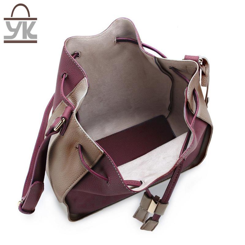 Fashion Ladies PU Leather Designer Bucket Bags