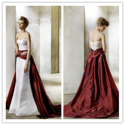 Dress Designs on Fashion Design Two Colour Taffeta Wedding Dress Nwd1731   China