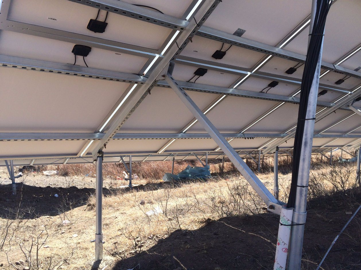 D3 Large Ground Sigma Post Solar Bracket System
