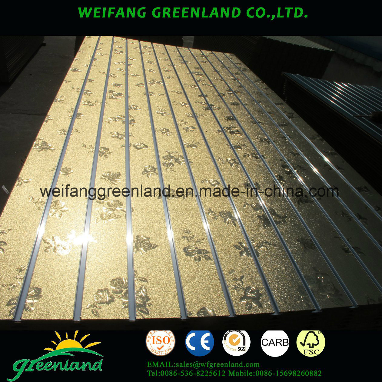 High Quality Melamined MDF Slot Board with Alunimum Profile for Market or Shops