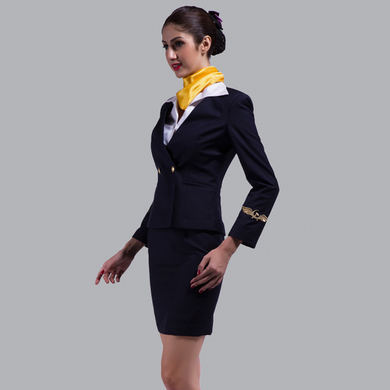 China elegant skirt suit flight attendant uniform fashion for Spa uniform france