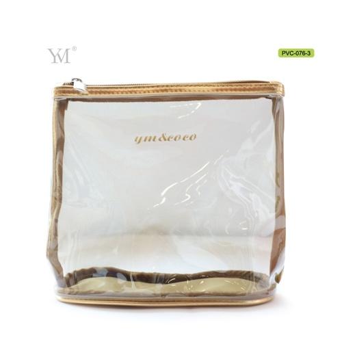 High Quality Wholesale Fashion Travel Custom Clear PVC Mesh Cosmetic Toiletry Makeup Woman Set Bag