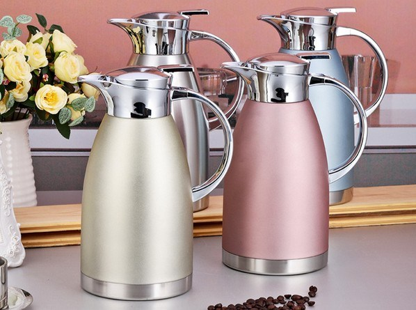 18-8 (304) Stainless Steel Double Wall Vacuum Kettle (TT-002)