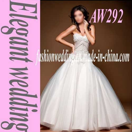Belt Organza Strapless Wedding Dress Aw292