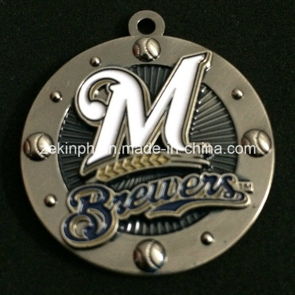 Custom 3D Metal Medals with Black Nickel Finish