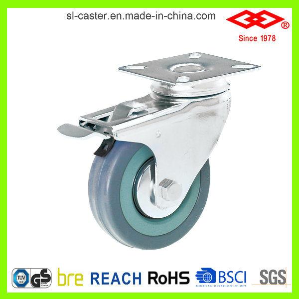 Grey Rubber Caster Wheel (L110-32C050X17S)