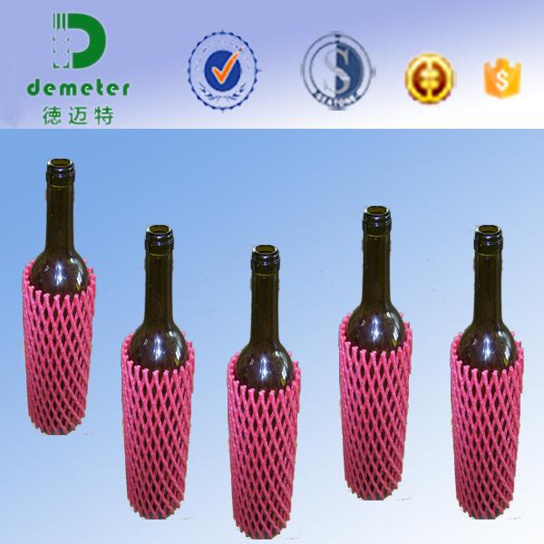 Wholesale Singapore Glass Wine Bottle Packaging Foam Sleeve Net