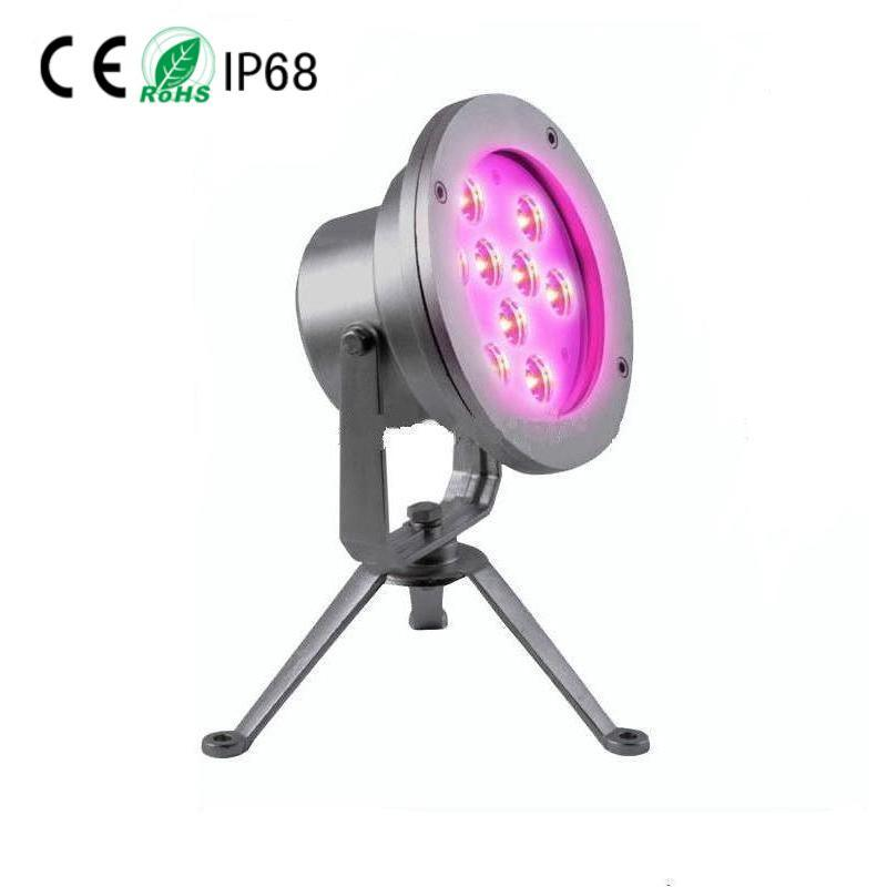 Marine 9X3w LED Underwater Fountain Light, Projector Lamp