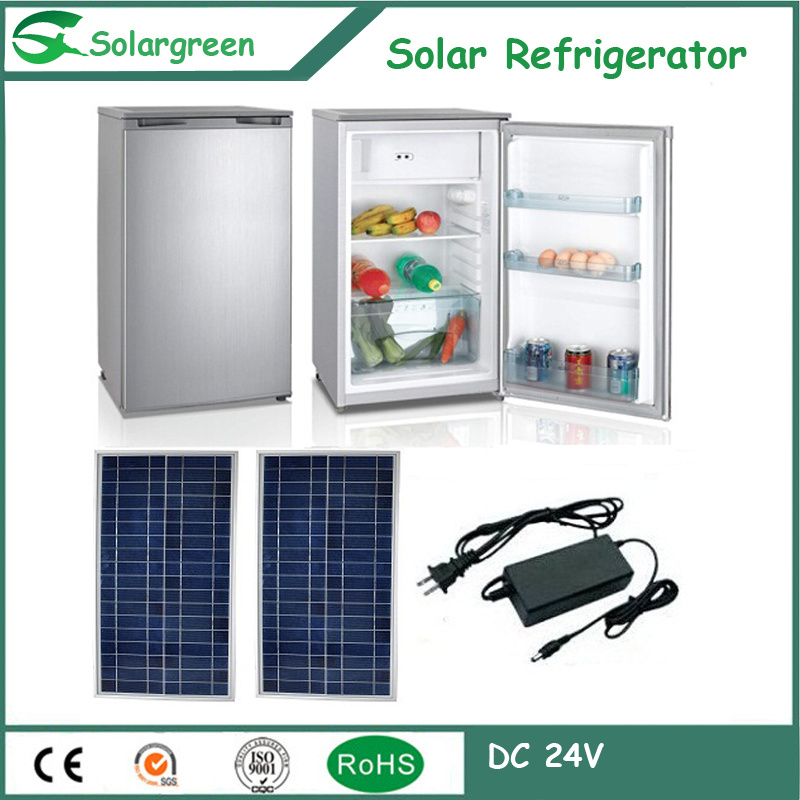 138L Factory Price 12/24V DC Compressor Solar Freezer Fridge Refrigerator
