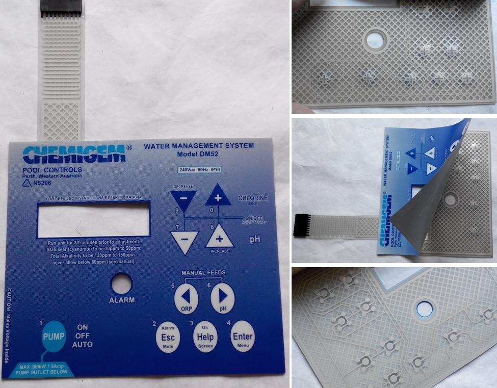Flexible Printed Circuit Membrane Keypad Switch with Digital Printing
