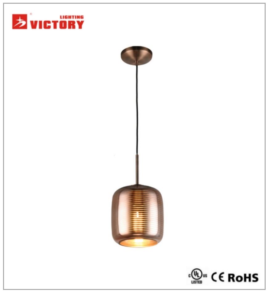 Glass Chandelier LED Modern Drop Light Pendant Lamp