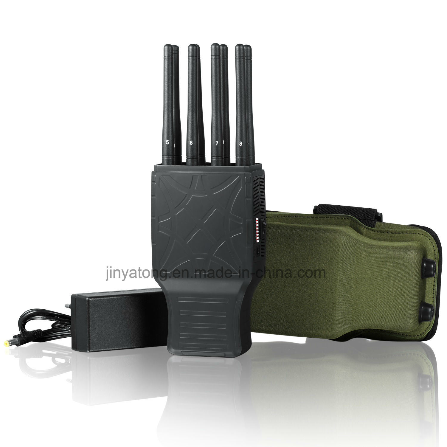 8 Bands Portable Cell Phone Jammer with Nylon Case