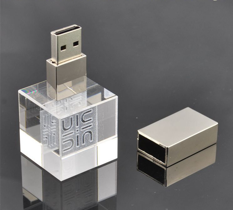 2g 4G 8g 16g Cube Shape Wedding Return Gifts Crystal USB Flash Drives