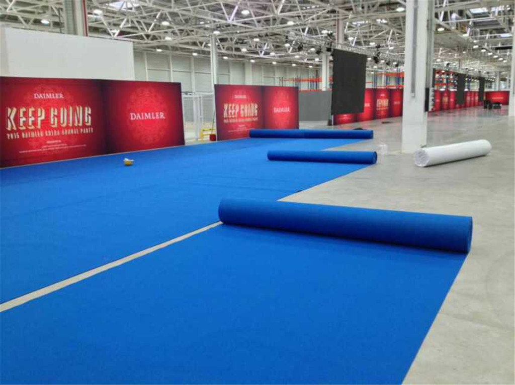 Outdoor Walkway Need Punch Polyester PE Yarn Fabric Exhibition Event Wedding Wed Aisle Roll Runner Stair Corridor Office Event Exhibit Red Floor Carpets