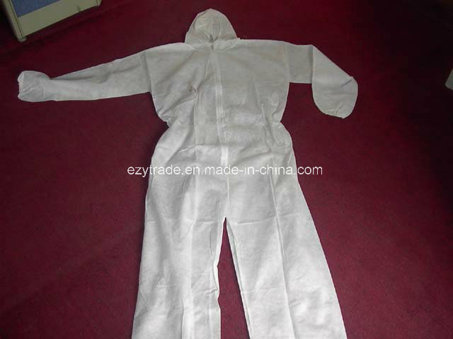 Disposable Protective Clothing SMS Coverall Work Clothes