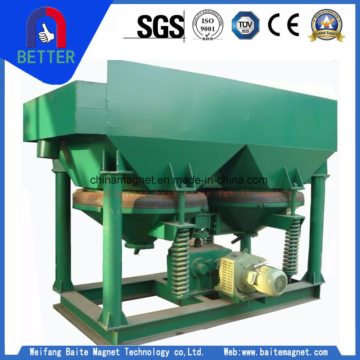 Diaphragm Jig Machine/Gold Jig Concentrator for Alluvial Gold / Tin Mining Beneficiation