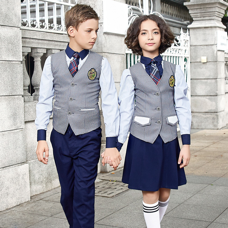 Custom High Quality Unisex School Uniform Vest