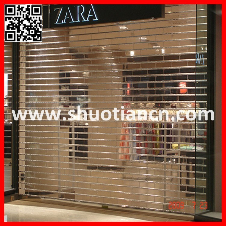 Automatic Transparent Polycarbonate Rolling Shutter/Polycarbonate Roll up Door/Transparent Roller Shutter (st-03)
