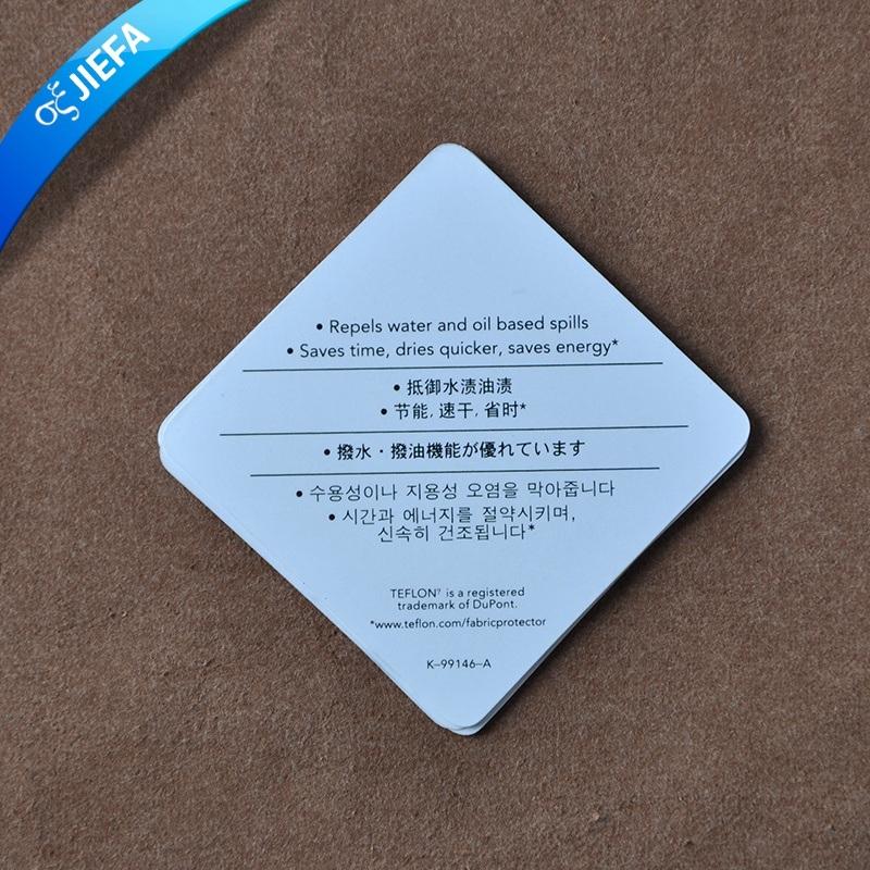 Custom Printing Elegant Paper Hang Tag