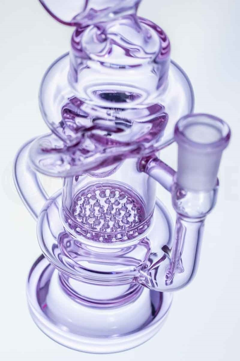 Honeycomb Mini Klein Recycler Glass Smoking Pipe with Barrel Neck