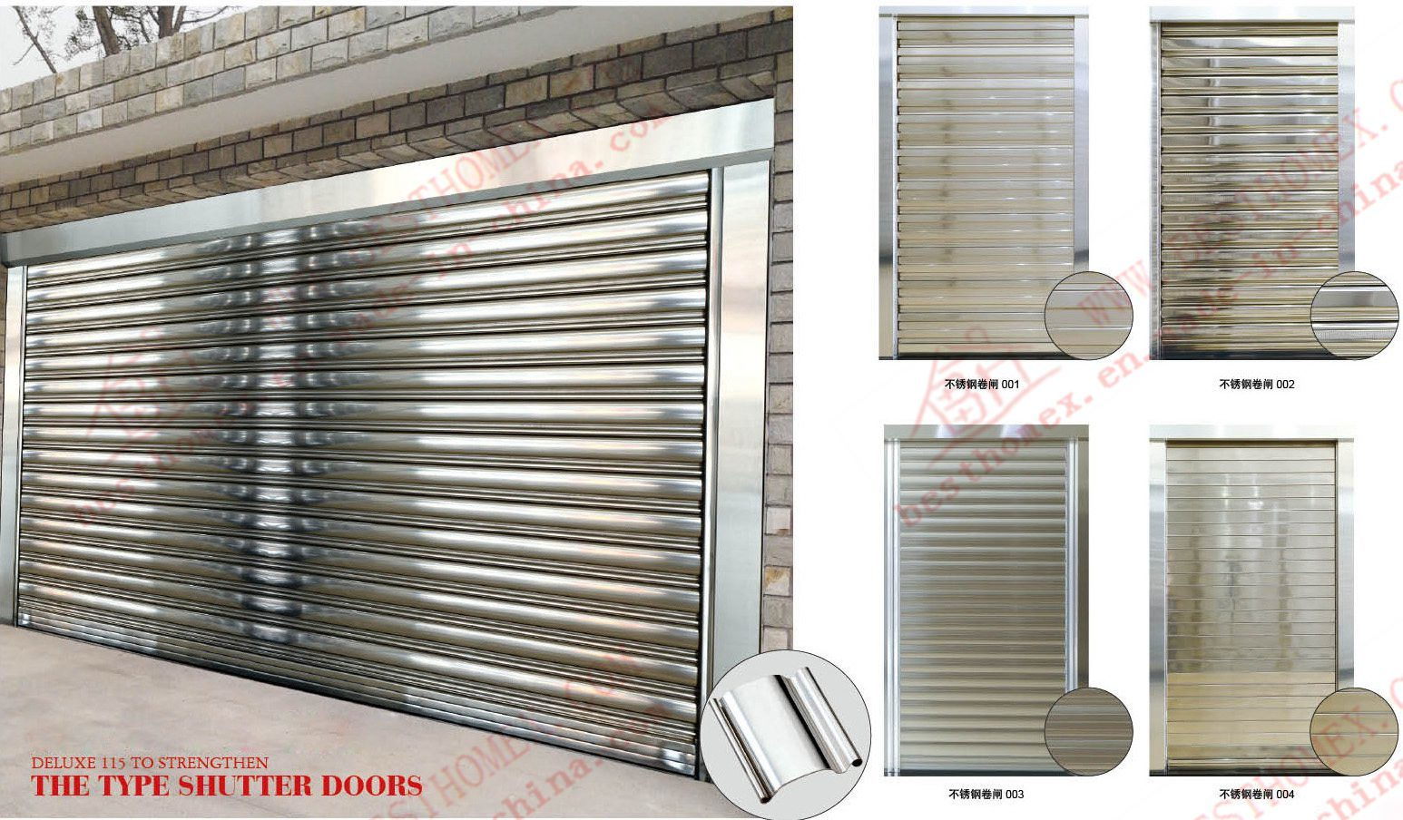 304 Stainless Steel Roller Shutter Door (BHS-SD03)
