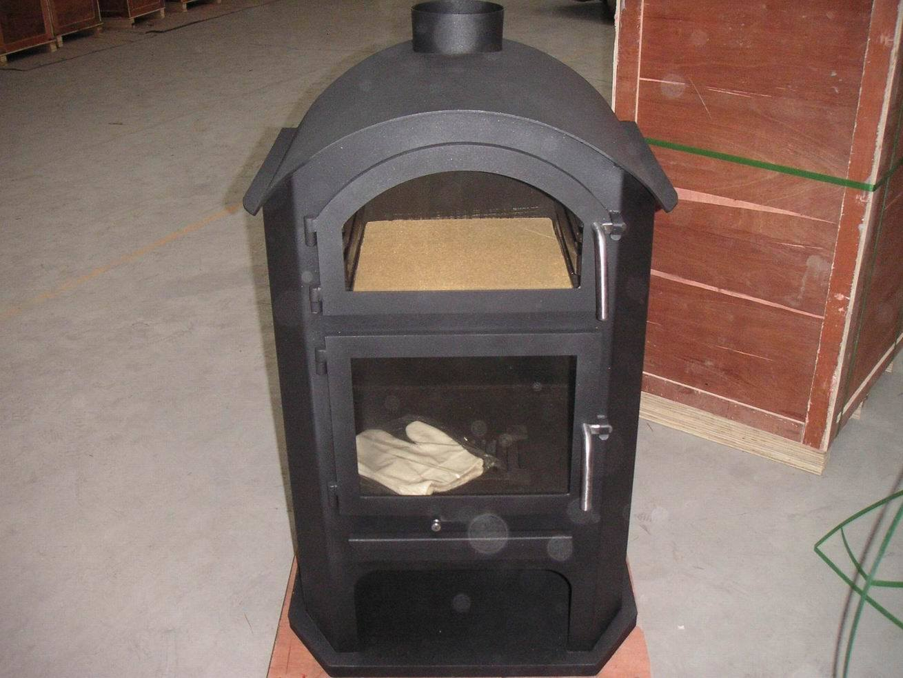Wood Stove Oven : wood burning stove with oven (KH003) - China Steel Plate Stoves, wood ...