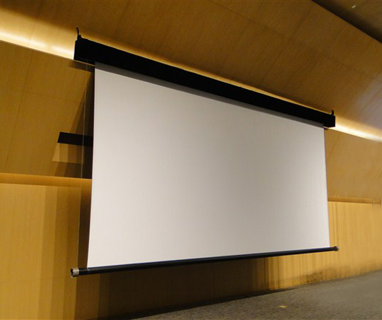 China Large Electric Projection Screen Photos Pictures